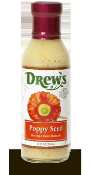 Salad Dressing, Drew's® Poppy Seed Dressing/Quick Marinade (12 oz Bottle)