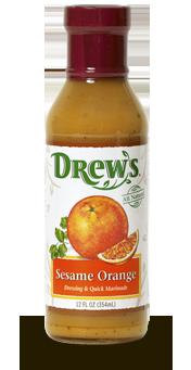 Salad Dressing, Drew's® Sesame Orange Dressing/Quick Marinade (12 oz Bottle)