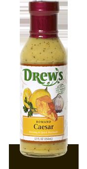 Salad Dressing, Drew's® Romano Caesar Dressing/Quick Marinade (12 oz Bottle)