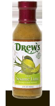 Salad Dressing, Drew's® Thai Sesame Lime Dressing/Quick Marinade (12 oz Bottle)