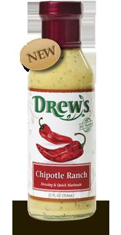 Salad Dressing, Drew's® Chipotle Ranch Dressing/Quick Marinade (12 oz Bottle)