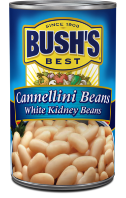 Canned Beans, Bush's® Cannellini Beans (15.5 oz Can)