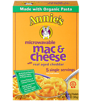 Mac N Cheese Pasta, Annie's® Microwavable Real Aged Cheddar Macaroni & Cheese (5 Count, 2.15 oz Boxes)