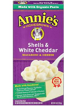 Mac N Cheese Pasta, Annie's® Shells & White Cheddar (6 oz Box)