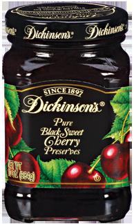 Fruit Spread, Dickinson's® Black Sweet Cherry Preserves (10 oz Jar)