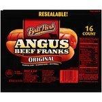 Hot Dogs, Ball Park® Angus Beef Franks, Original, 16 Franks, 28 oz Resealable Bag
