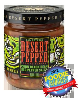 Salsa, Desert Pepper® Medium Corn Black Bean Red Pepper Salsa (16 oz Jar)