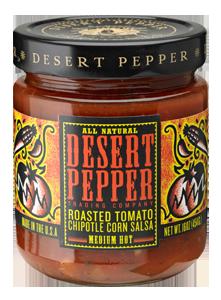 Salsa, Desert Pepper® Medium Roasted Tomato Chipolte Corn Salsa (16 oz Jar)