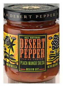 Salsa, Desert Pepper® Medium Peach Mango Salsa (16 oz Jar)