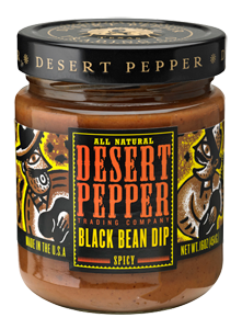Bean Dip, Desert Pepper® Gluten Free Spicy Black Bean Dip (16 oz Jar)