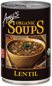 Canned Organic Soup, Amy's® Organic Lentil Soup (14.5 oz Can)