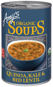Canned Organic Soup, Amy's® Organic Quinoa, Kale & Red Lentil  Soup (14.5 oz Can)