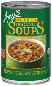 Canned Organic Soup, Amy's® Organic Rustic Italian Vegetable Soup (14.5 oz Can)