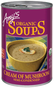 Canned Organic Soup, Amy's® Organic Cream of Mushroom Soup (14.5 oz Can)