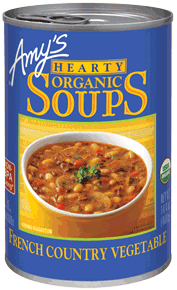 Canned Organic Soup, Amy's® Organic French Country Vegetable Soup (14.5 oz Can)