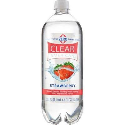 Sparkling Water, Clear American® Strawberry (33.8 oz Bottle)