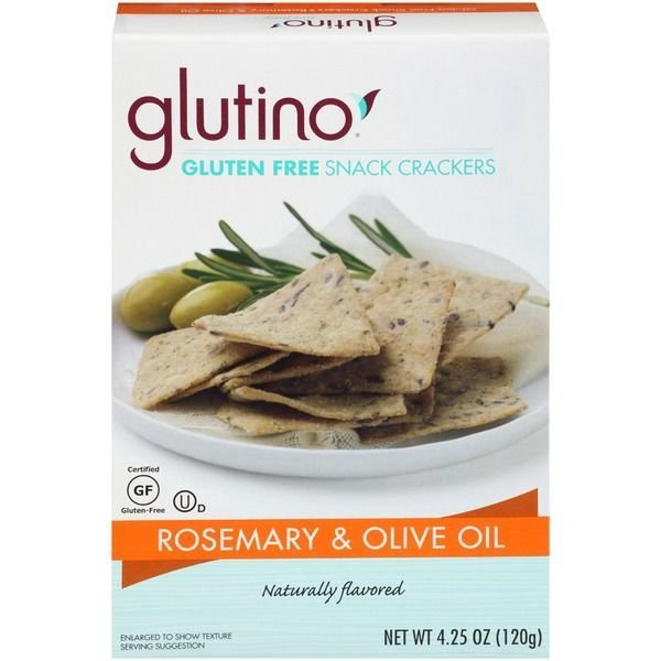Crackers, Glutino® Gluten Free Rosemary & Olive Oil Crackers (4.25 oz Box)