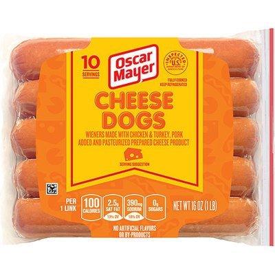 Hot Dogs, Oscar Mayer® Cheese Dogs, Resealable 16 oz Bag, 10 Franks