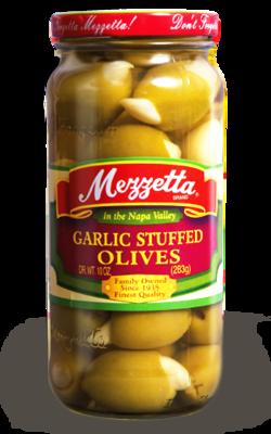Preserved Olives, Mezzetta® Garlic Stuffed Olives (10 oz Jar)