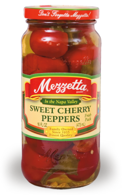 Preserved Peppers, Mezzetta® Sweet Cherry Peppers (10 oz Jar)