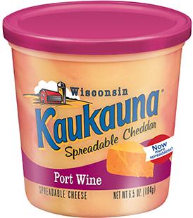 Cheese Spread, Kaukauna® Wisconsin Spreadable Port Wine Cheese (6.5 oz Cup)