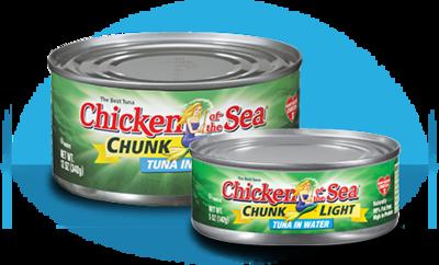 Canned Tuna, Chicken of the Sea® Chunk Light Tuna in Water (18.5 oz Can)