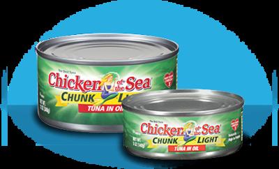 Canned Tuna, Chicken of the Sea® Chunk Light Tuna in Oil (18.5 oz Can)