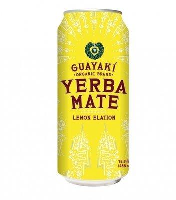 Energy Drink, Guayaki® Yerba Mate, Lemon Elation (15.5 oz Can)