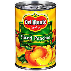 Canned Fruit, Del Monte® Sliced Yellow Peaches in Heavy Syrup (15.25 oz Can)