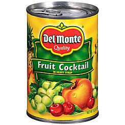 Canned Fruit Cocktail, Del Monte® Fruit Cocktail in Heavy Syrup (15.25 oz Can)