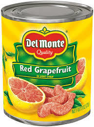 Canned Fruit, Del Monte® Red Grapefruit in Light Syrup (8 oz Can)