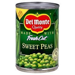 Canned Peas, Del Monte® Fresh Cut Sweet Peas (15 oz Can)