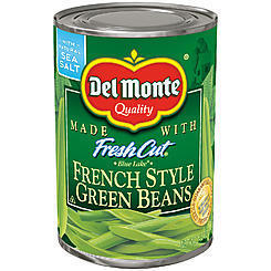 Canned Green Beans, Del Monte® Blue Lake French Style Green Beans (14.5 oz Can)