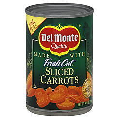 Canned Carrots, Del Monte® Fresh Cut Sliced Carrots (14.5 oz Can)