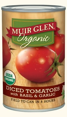 Canned Tomato, Muir Glen® Organic Diced Tomatoes with Basil and Garlic, 14.5 oz Can