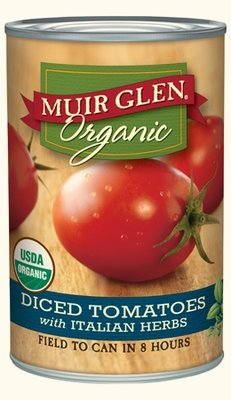 Canned Tomato, Muir Glen® Organic, Diced Tomatoes with Italian Herbs, 14.5 oz Can