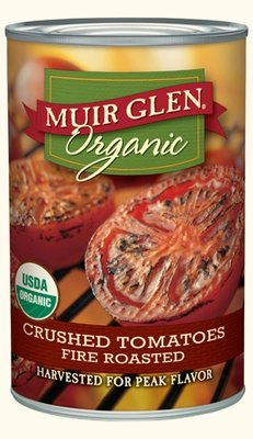 Canned Tomato, Muir Glen® Organic, Crushed Tomatoes, Fire Roasted, 14.5 oz Can