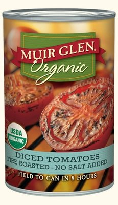 Canned Tomato, Muir Glen® Organic, Diced Tomatoes, Fire Roasted, No Salt Added, 14.5 oz Can