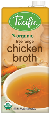 Boxed Organic Broth, Pacific® Organic Free Range Chicken Broth (32 oz Box)