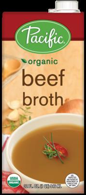Boxed Organic Broth, Pacific® Organic Beef Broth (32 oz Box)