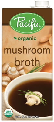 Boxed Organic Broth, Pacific® Organic Mushroom Broth (32 oz Box)