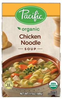 Boxed Organic Soup, Pacific® Organic Chicken Noodle Soup (17.6 oz Box)