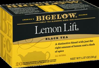 Tea, Bigelow® Black Tea, Lemon Lift® 1.37 oz Box (20 Bags)