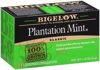 Tea, Bigelow® Black Tea, Plantation Mint® 1.18 oz Box (20 Bags)