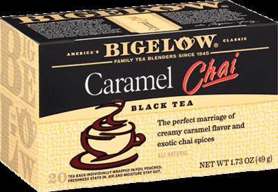 Tea, Bigelow® Black Tea, Caramel Chai Tea® 1.73 oz Box (20 Bags)