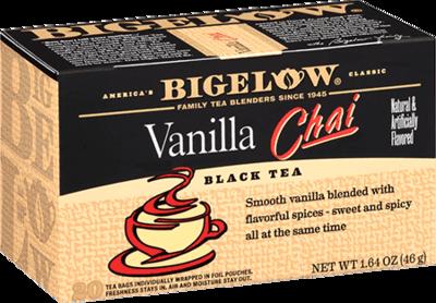 Tea, Bigelow® Black Tea, Vanilla Chai Tea® 1.64 oz Box (20 Bags)