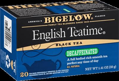 Tea, Bigelow® Black Tea, English Teatime® Decaf, 1.41 oz Box (20 Bags)