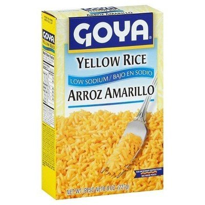 Rice, Goya® Yellow Rice, Low Sodium, 8 oz Box