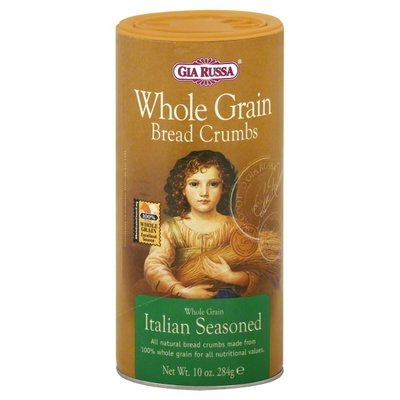 Bread Crumbs, Gia Russa® Whole Grain Italian Seasoned Bread Crumbs (10 oz Tube)