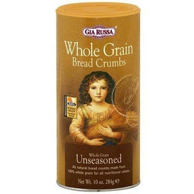 Bread Crumbs, Gia Russa® Whole Grain Italian Un-Seasoned Bread Crumbs (10 oz Tube)